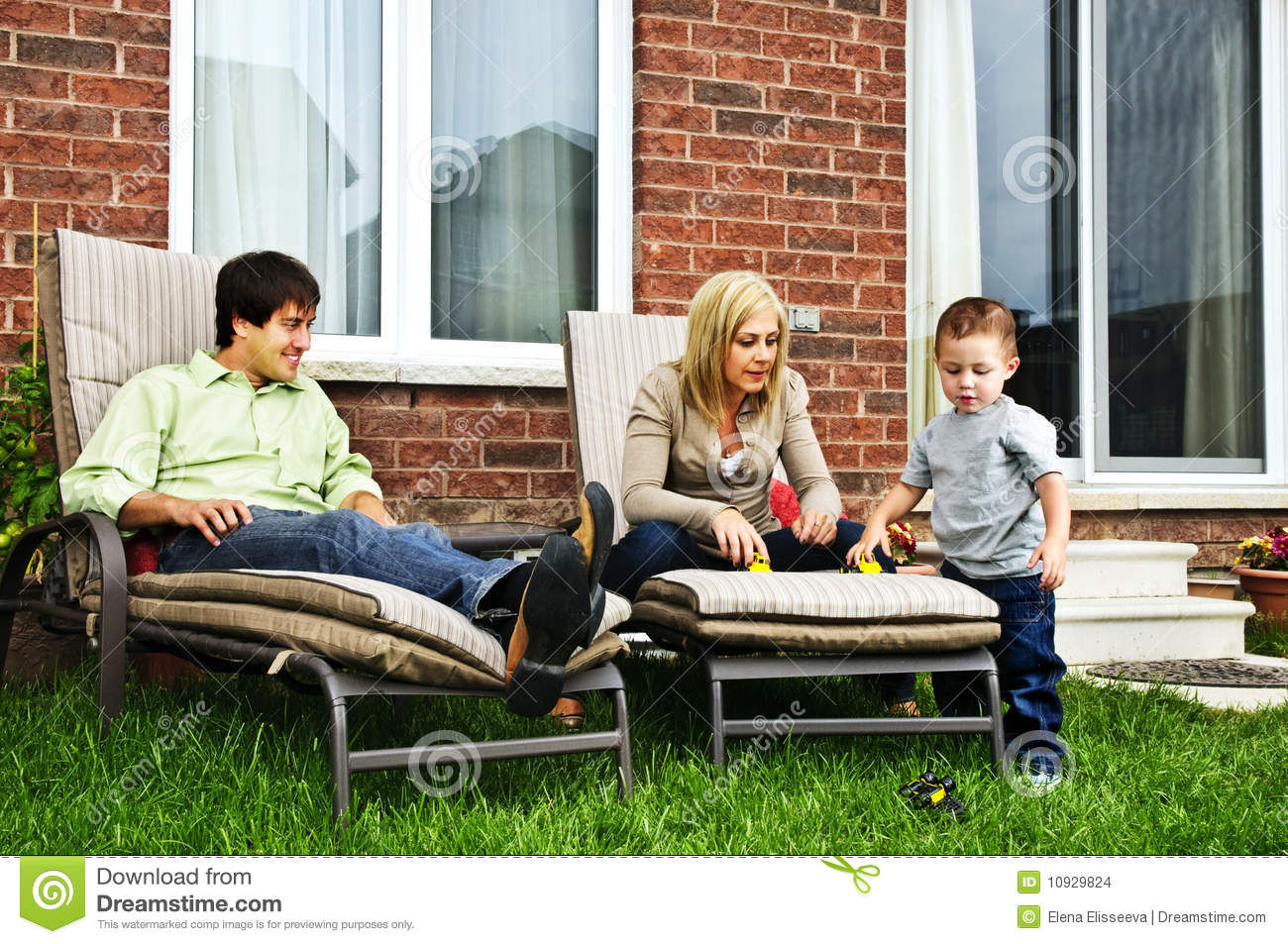 Happy Family Relaxing At Home Stock Images Image 10929824