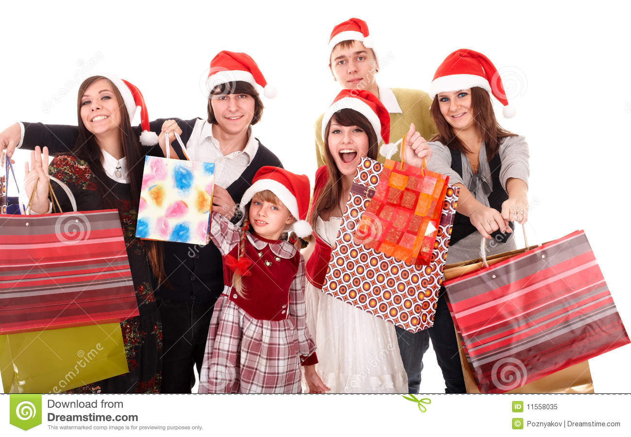 Happy Family With Shopping Bag Stock Photo - Image: 53437454