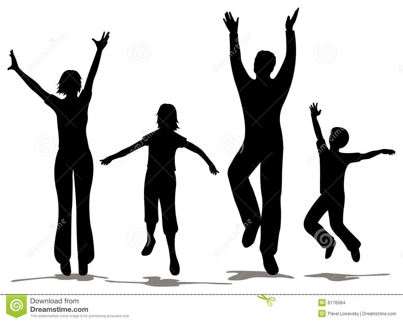 Happy Family Silhouette Stock Images - Image: 8176584