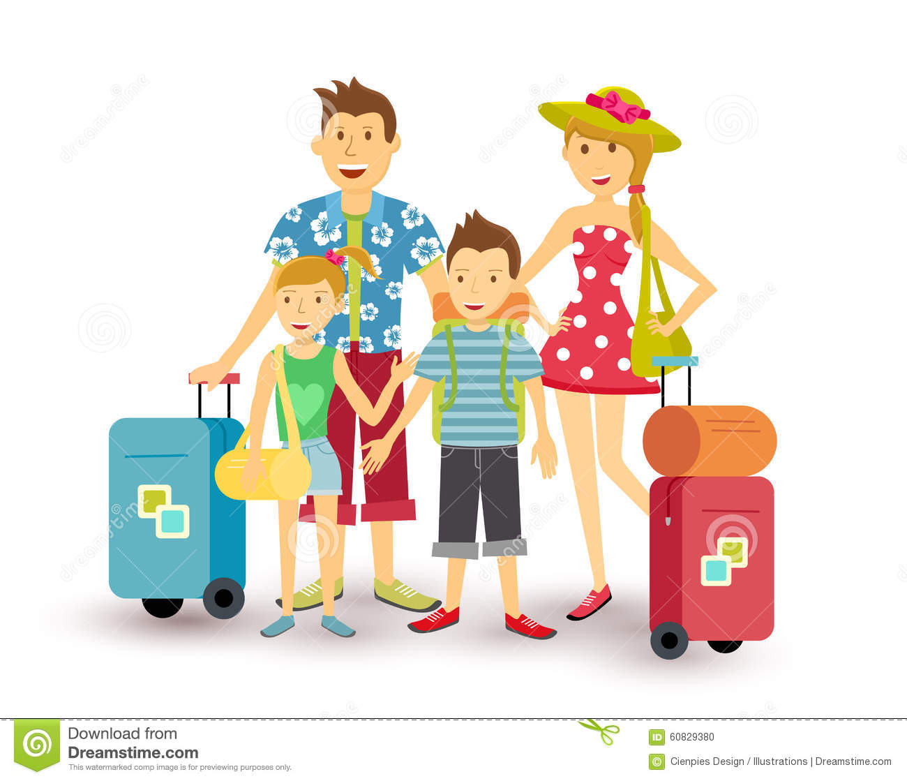 clipart of family vacation - photo #33