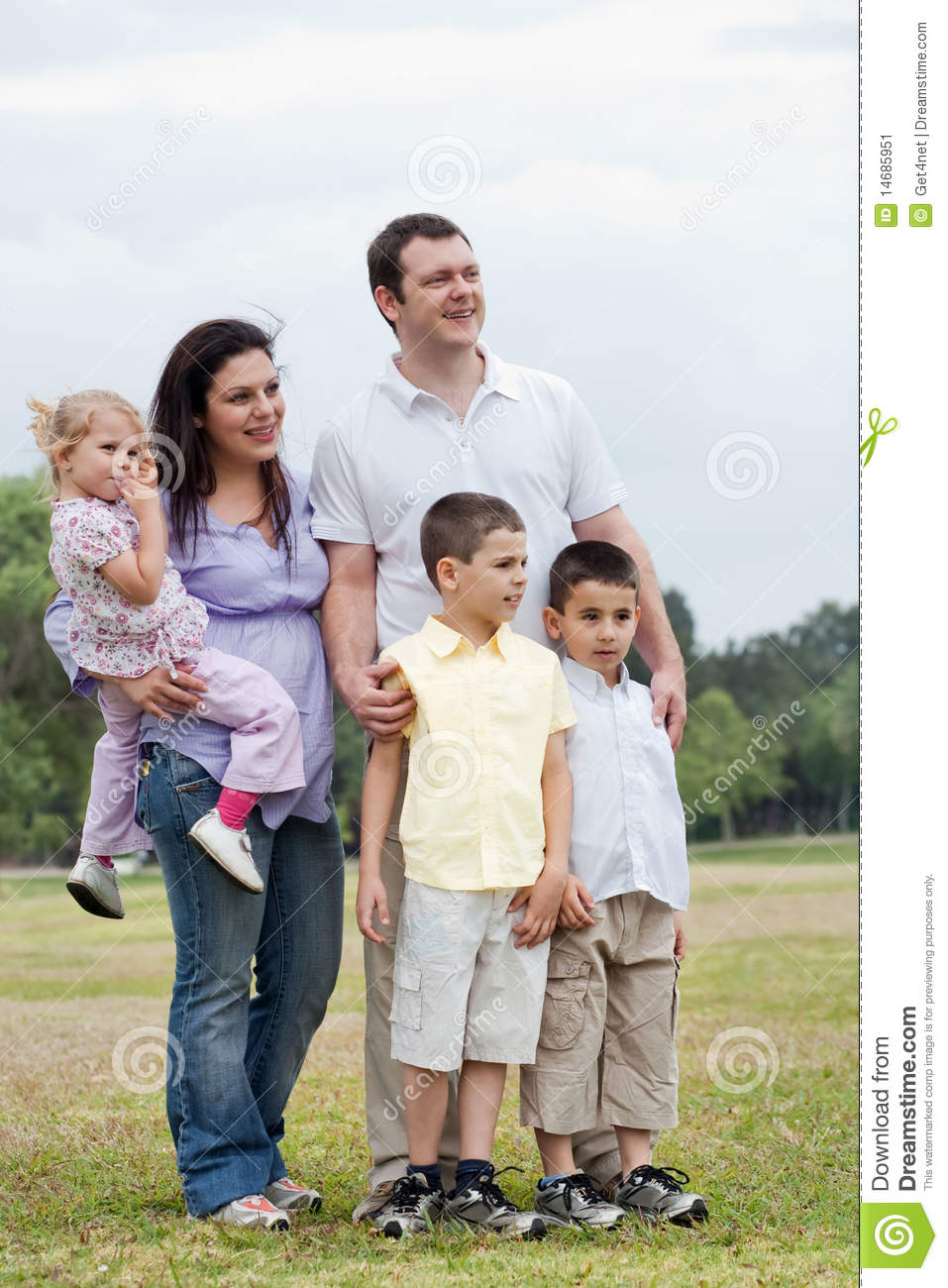 Happy family with three kids looking away stock image image 14685951 - Houses for families withchild ...