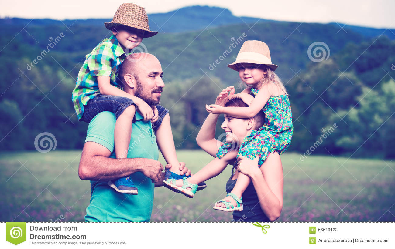 Happy family time concept