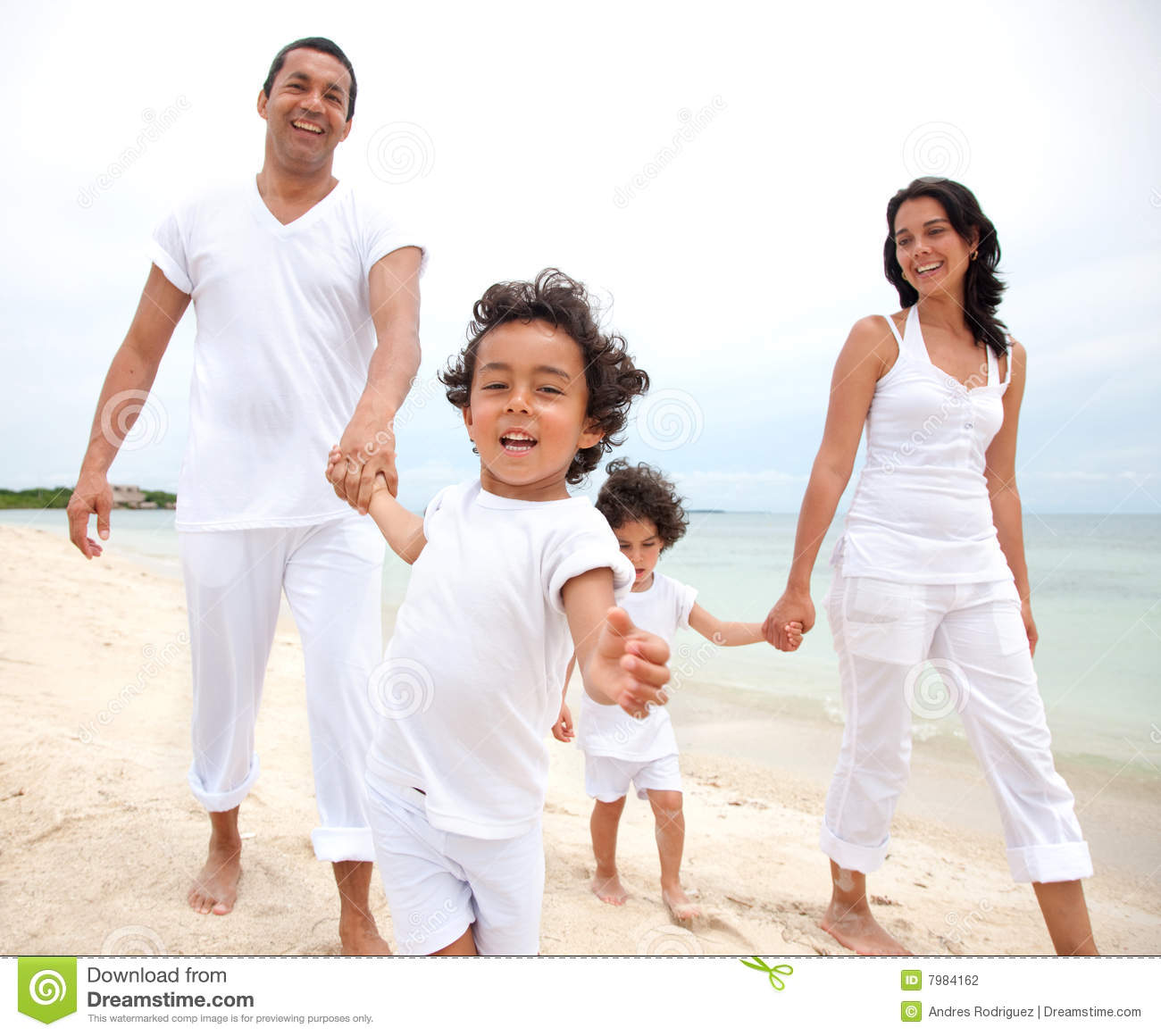 Happy Family On Vacation Stock Photography - Image: 7984162
