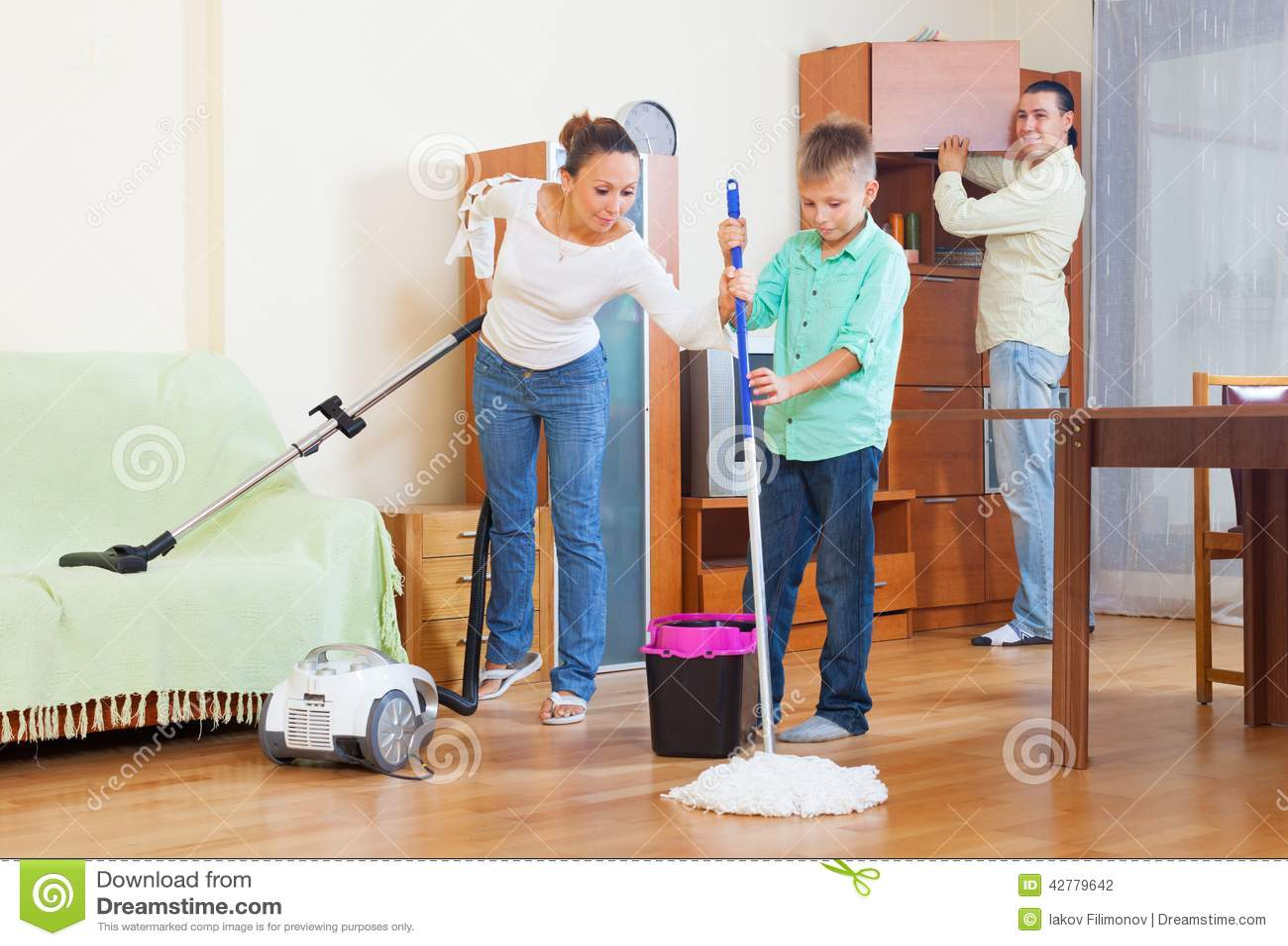 Vacuuming The Family Room
