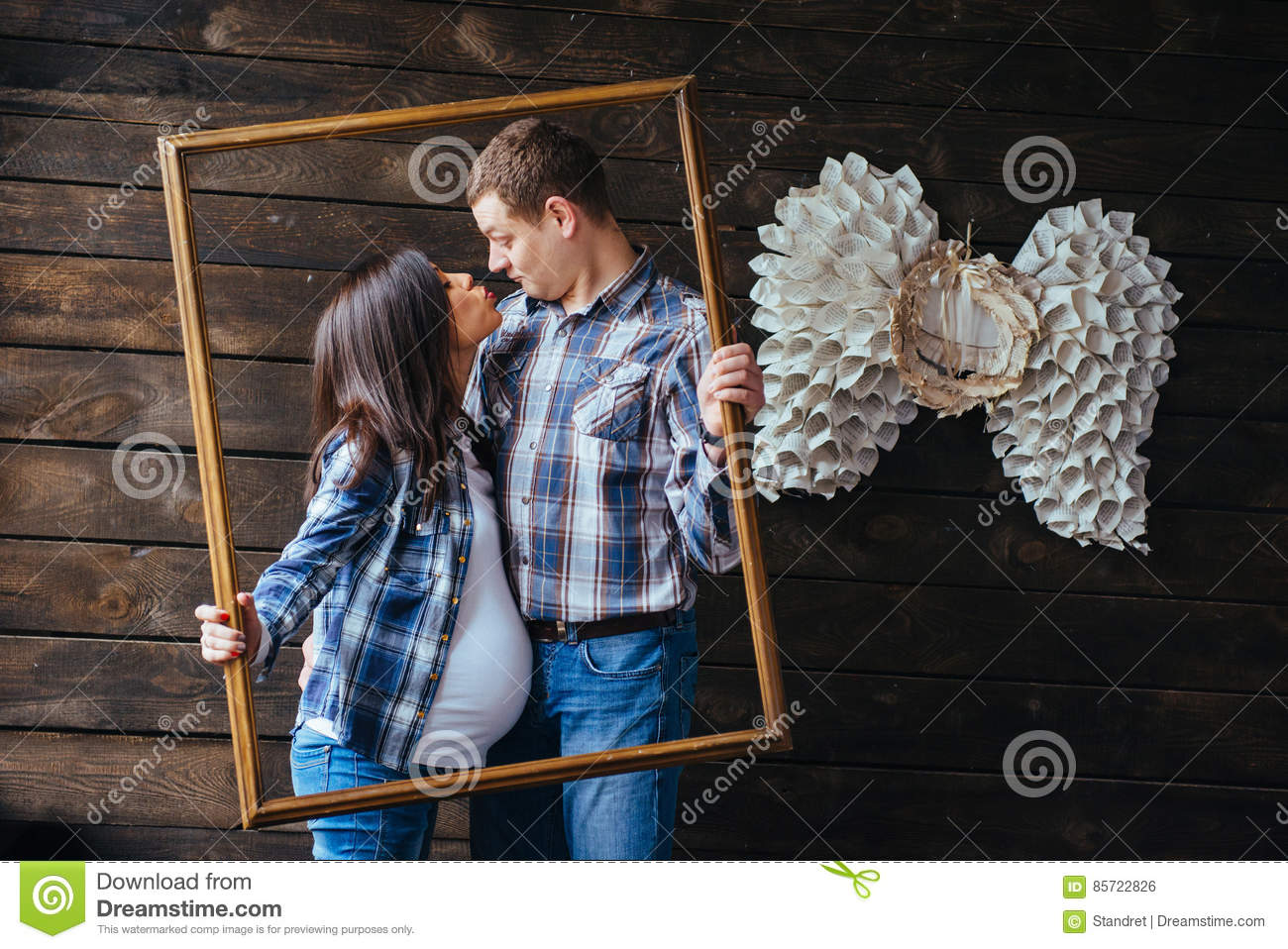 Happy family waiting for baby