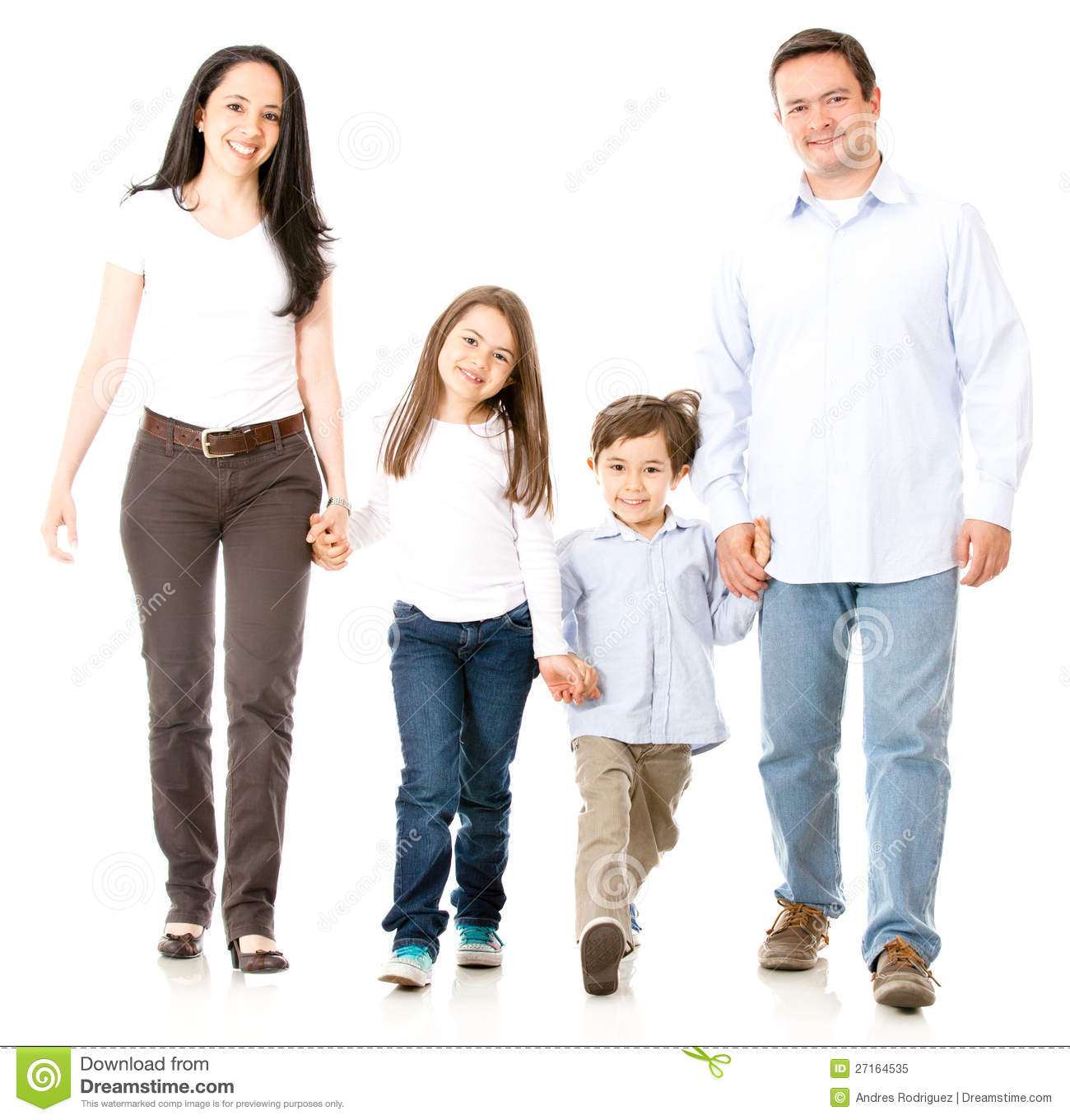 Happy Family Walking Stock Image Image Of Beautiful