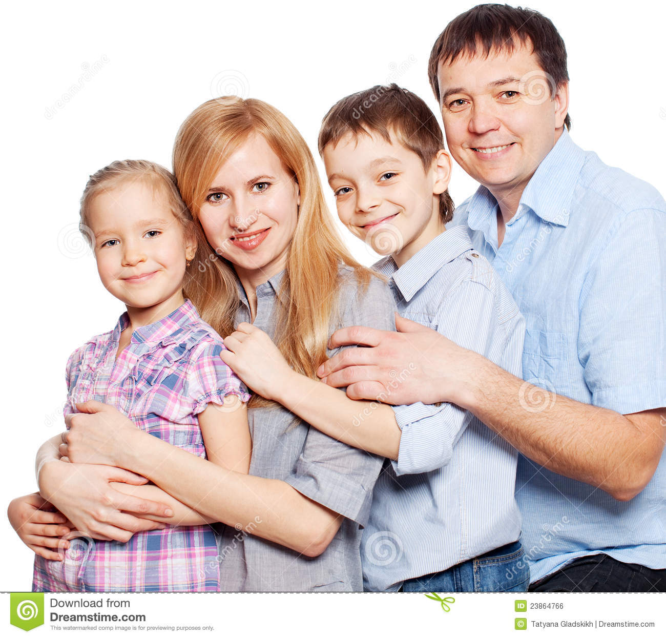 Happy Family On White Stock Photo Image Of Male Isolated