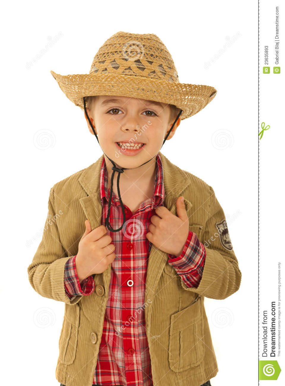 Happy Fashion Model Kid Stock Photos