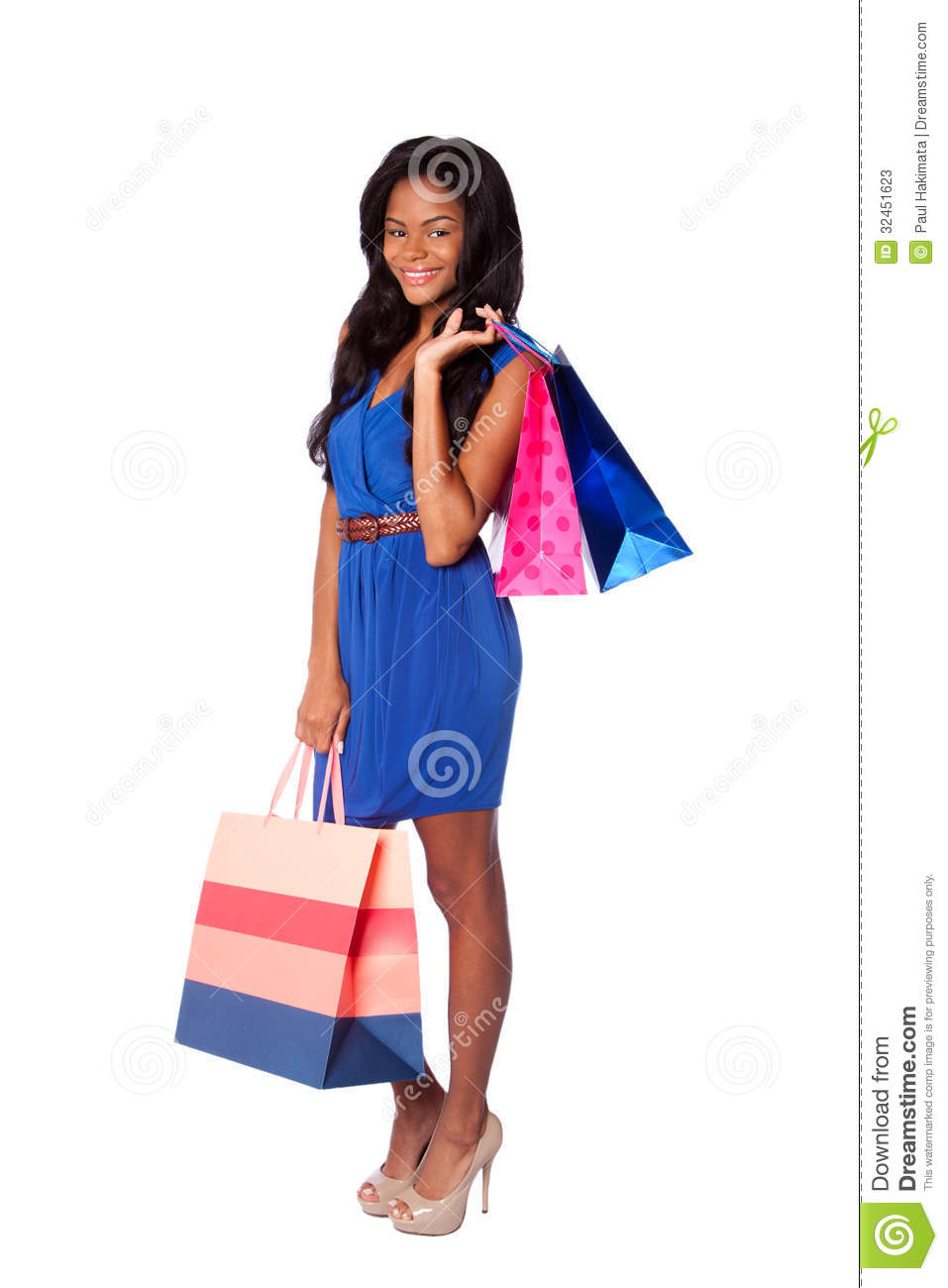 Happy Fashion Shopping Bags Stock Image