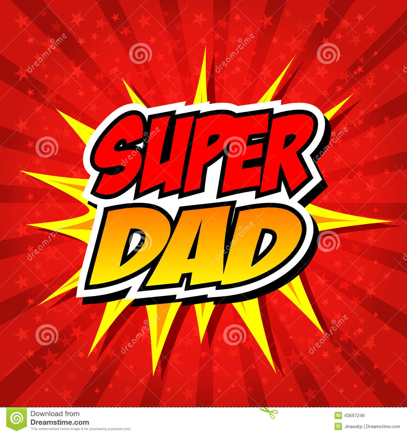 Happy Father Day Super Hero Dad Stock Vector - Illustration