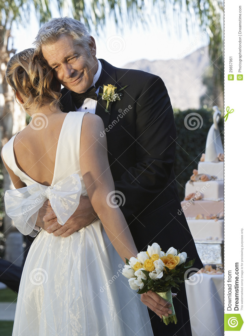 Happy Father Hugging Daughter