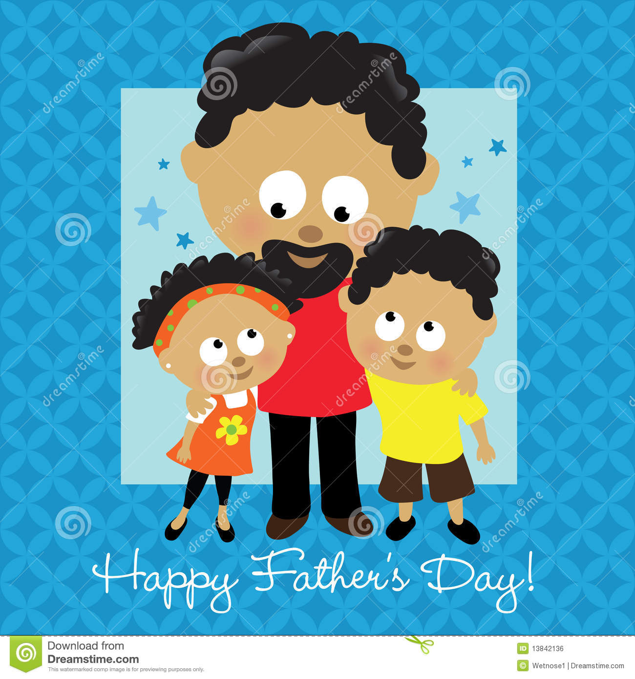 Happy fathers day african american stock vector illustration of happy father s day african american kristyandbryce Image collections