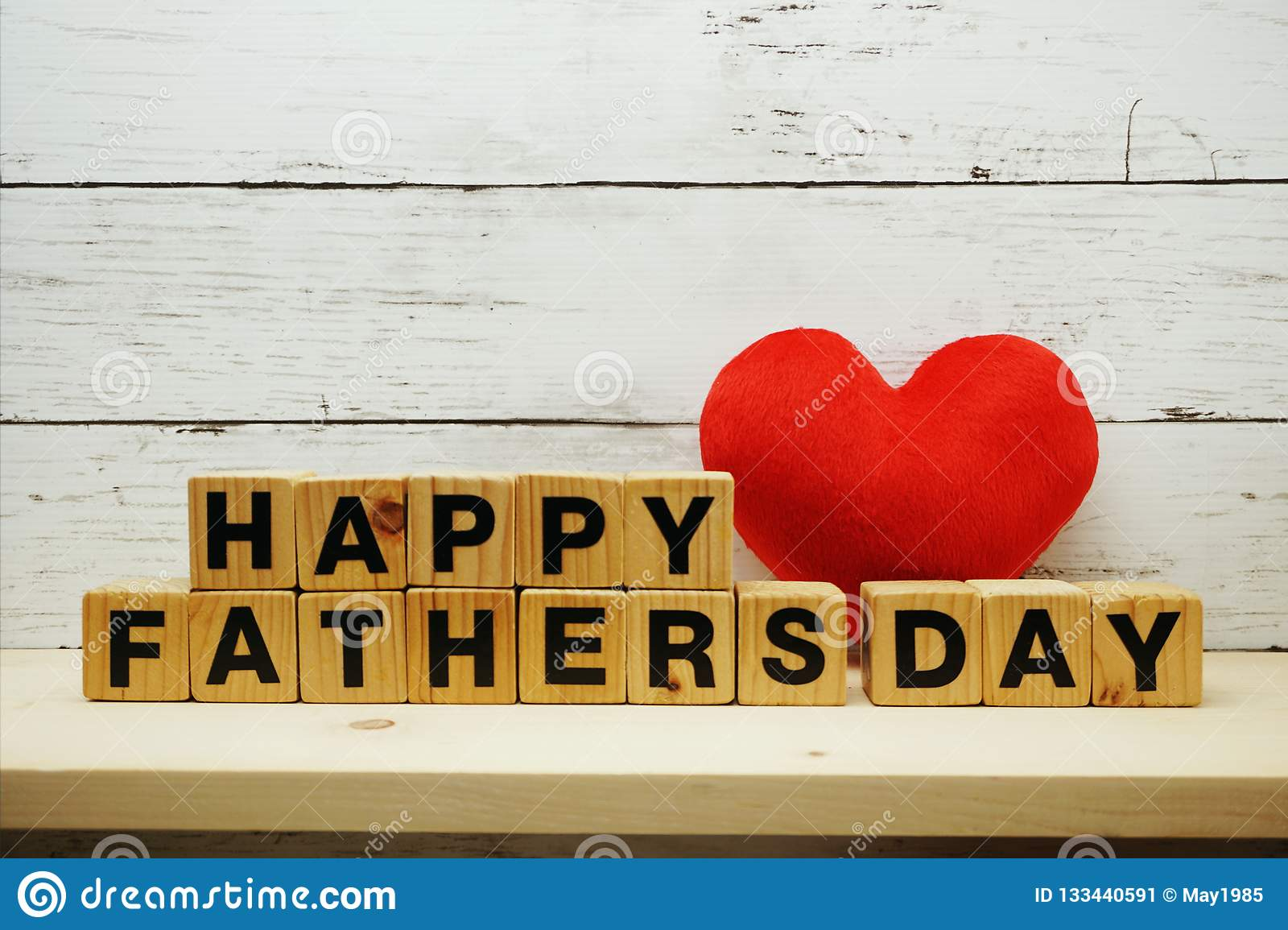 Happy Father`s Day Concept With Alphabet Letters With Red ...