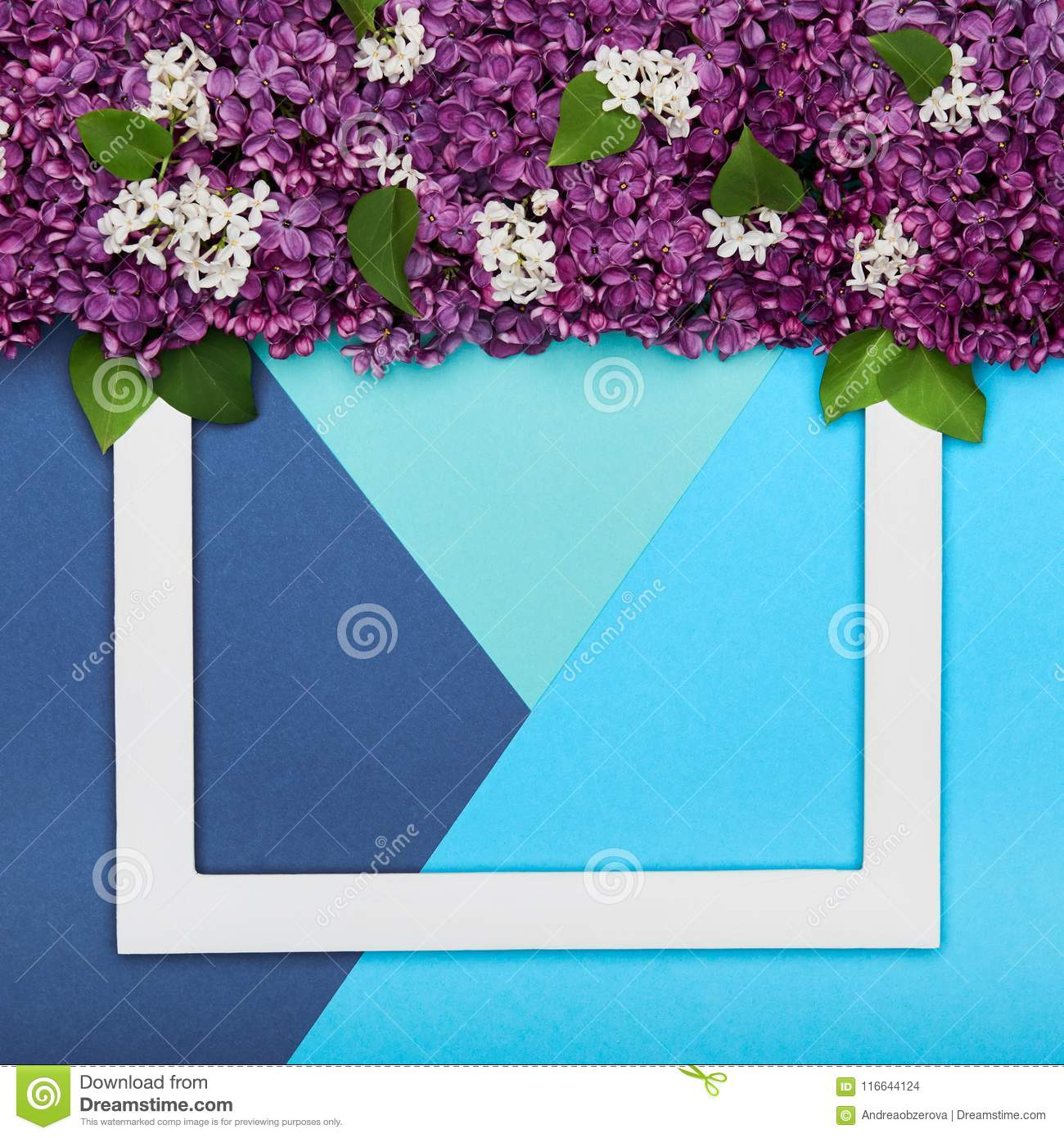 Happy Father`s day or Birthday Turquoise and Blue Colours Background. Floral flat lay.