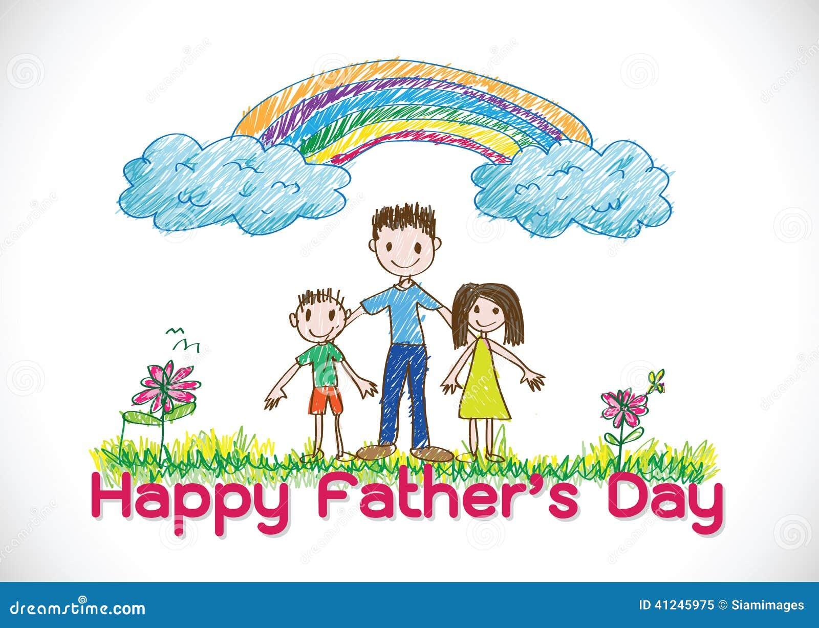happy father u0027s day card idea design stock vector image 41245975