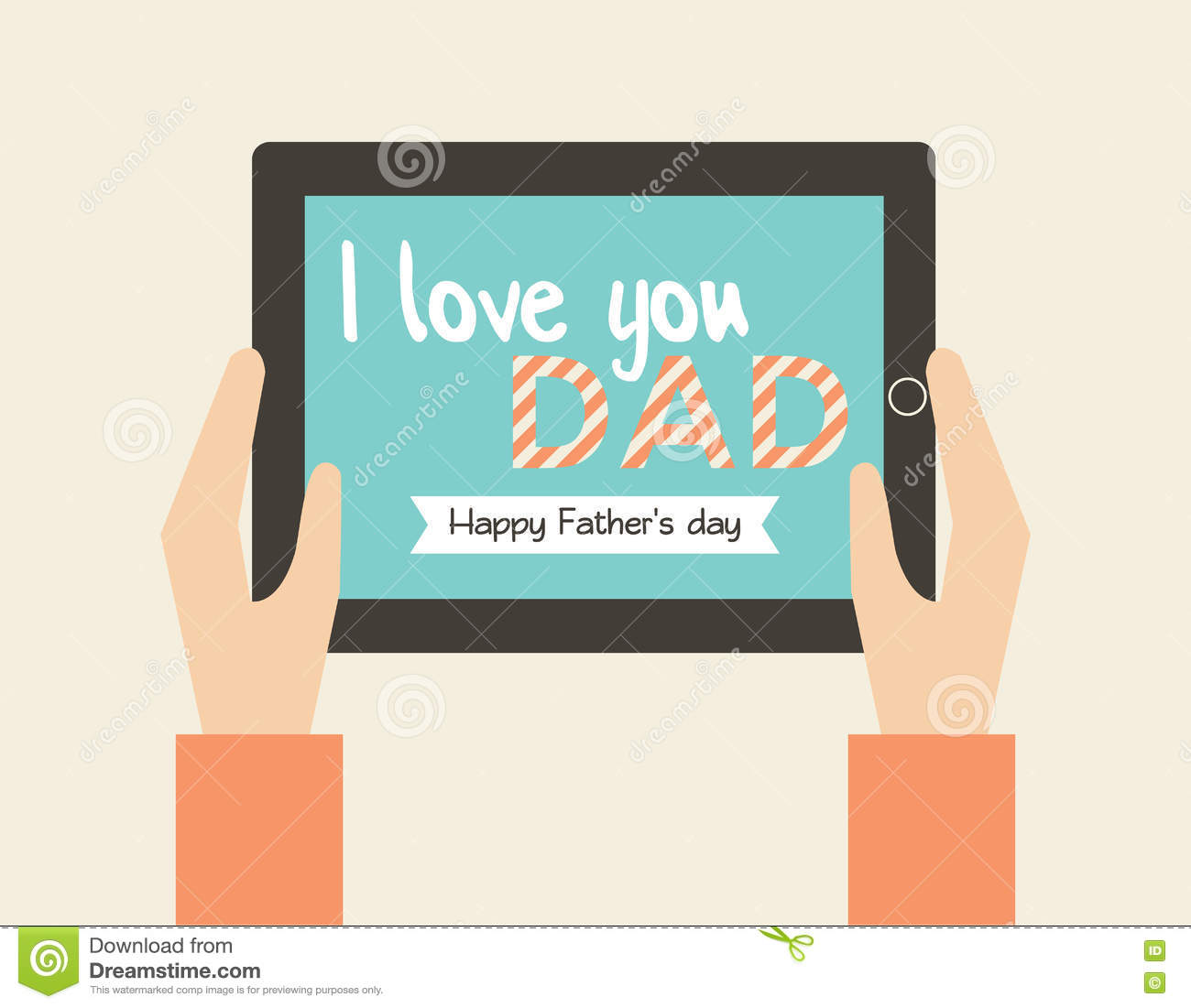 Poster Happy Father`s Day Greetings In Retro Style. Vector ...