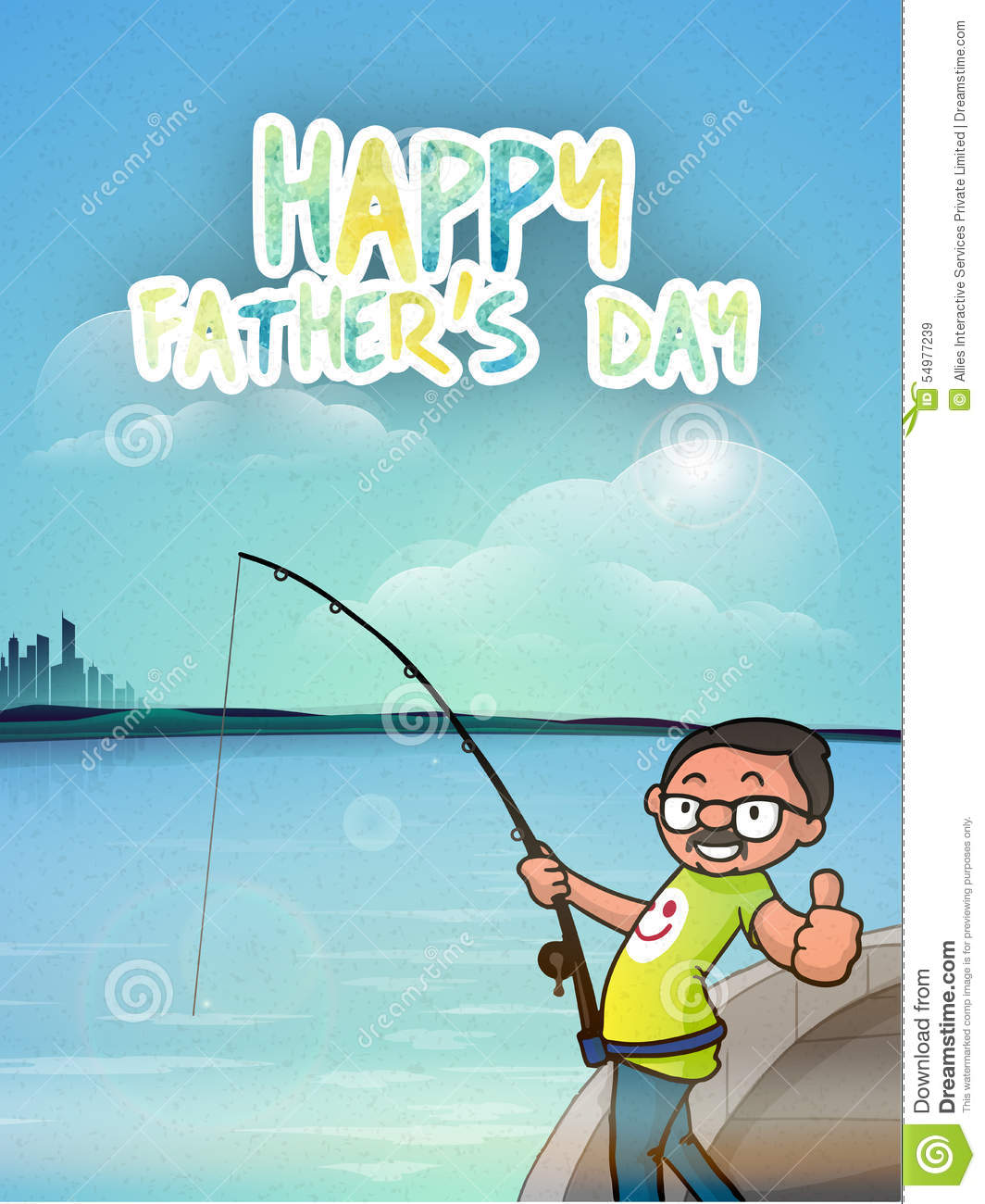Happy fathers day celebration with cartoon man stock illustration happy fathers day celebration with cartoon man sciox Image collections