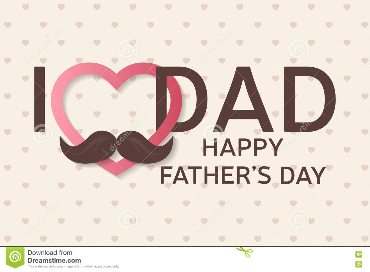 Happy Fathers Day Greeting Card Happy Fathers Day Poster I Love