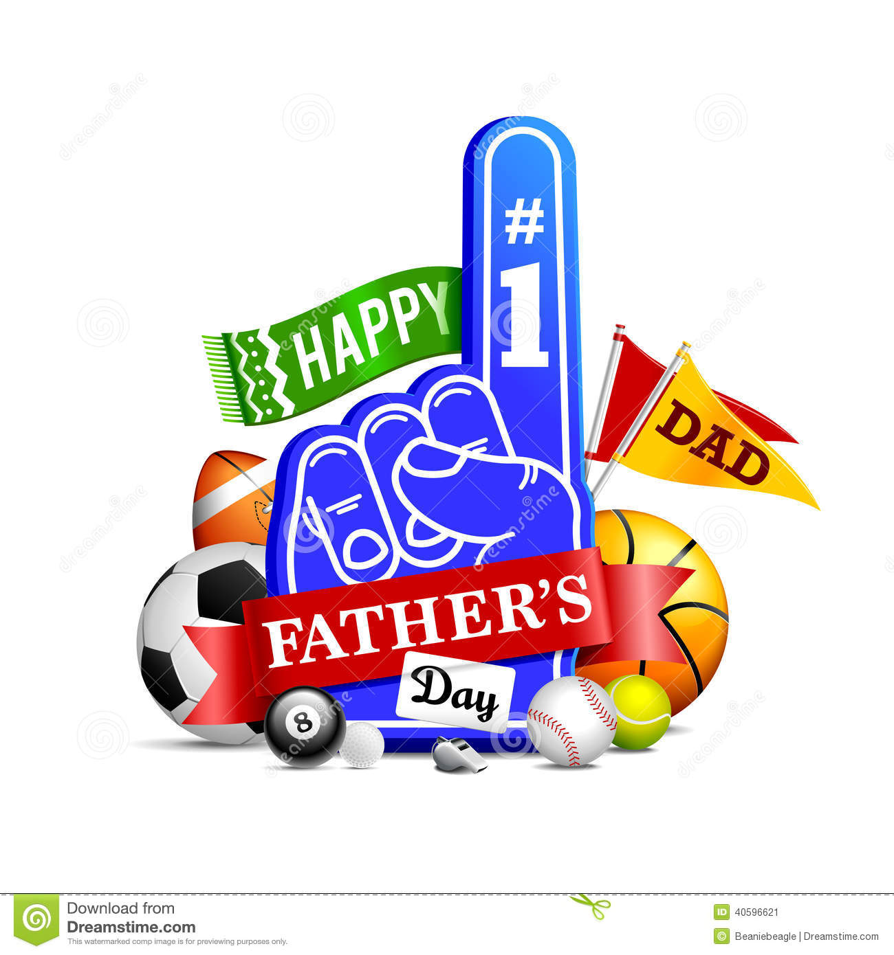 Happy Father's Day stock vector. Image of glossy, design ...