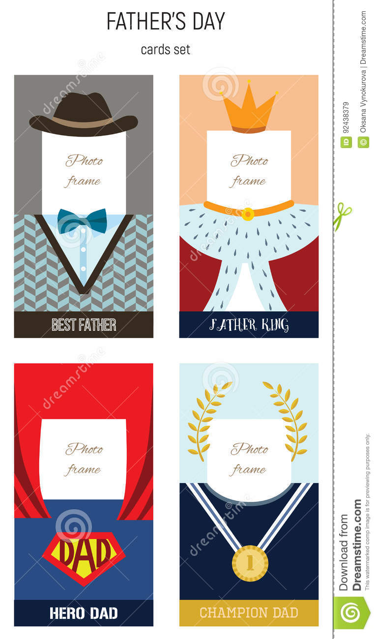 Happy Fathers Day, Best Dad Vector Photo Frame Set Stock Vector ...