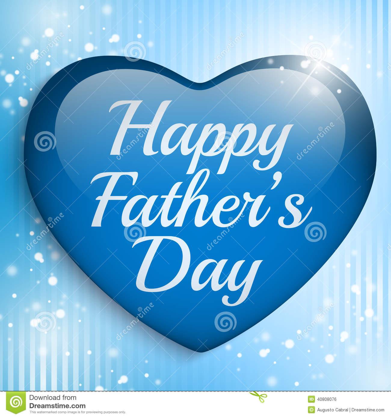 Happy Fathers Day Blue Heart Background Stock Vector Illustration Of Pattern Gift 40808076