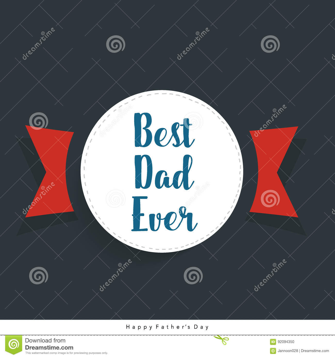 happy fathers day card design vector illustration stock vector