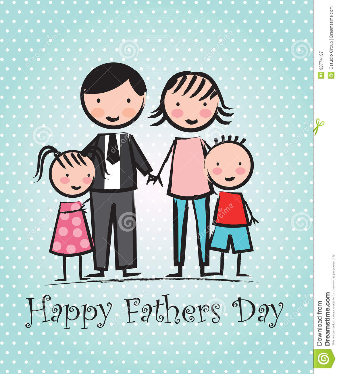 Happy Fathers day stock vector. Image of mixed, holiday ...