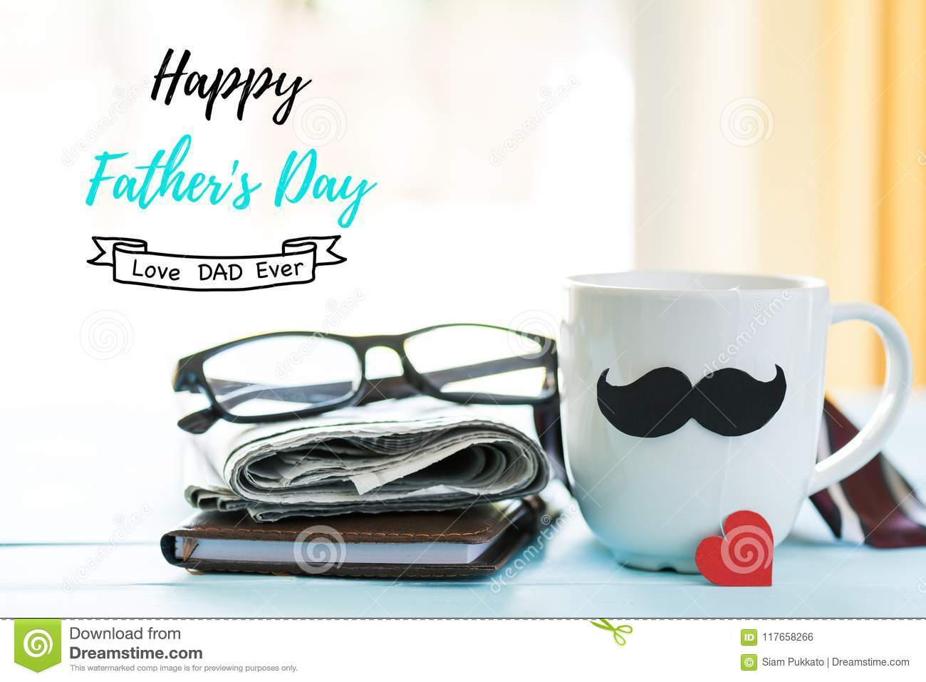 Happy fathers day concept. stock photo. Image of gift ...