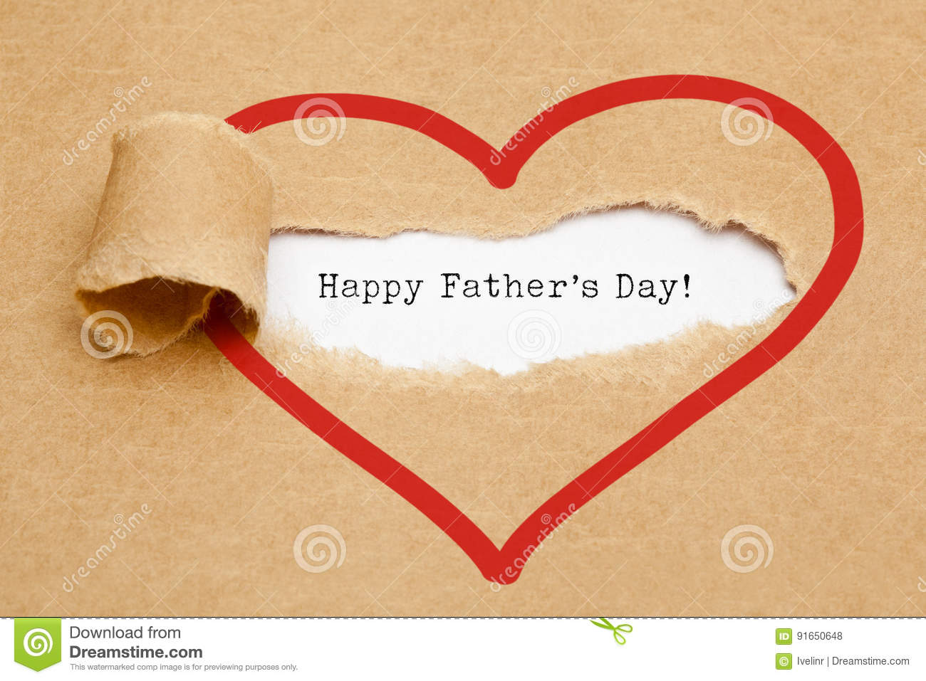 Happy Fathers Day Torn Paper Concept Stock Illustration ...