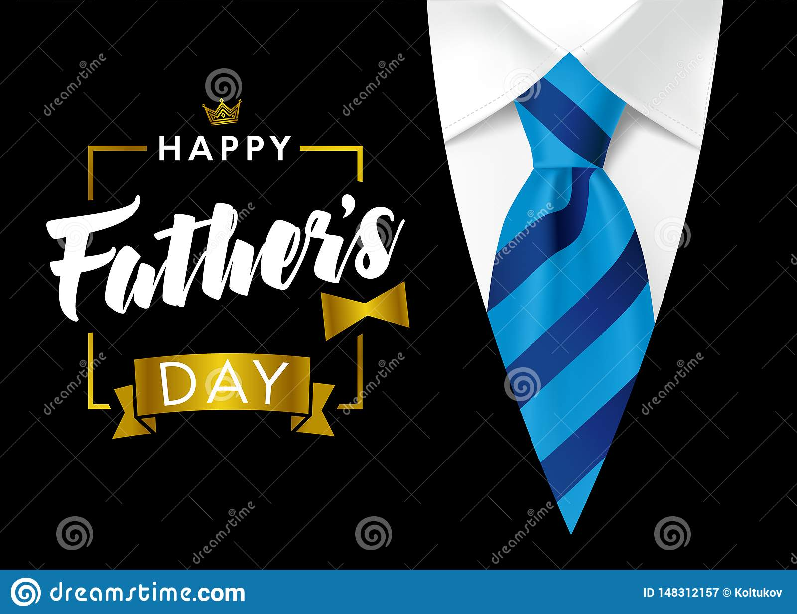 Happy Father`s Day Calligraphy Greeting Card Stock Vector ...