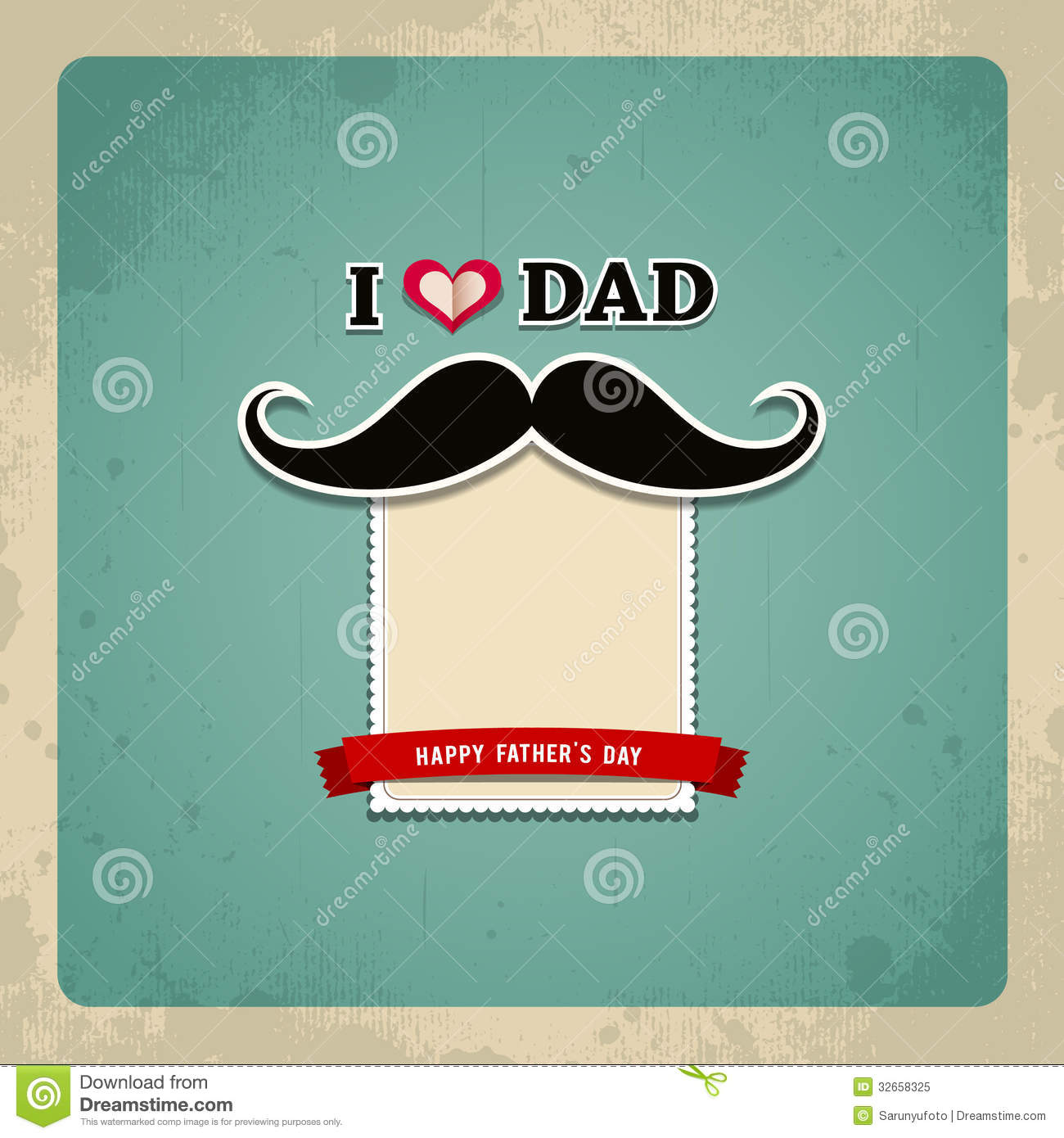 Happy Fathers Day Vintage Greeting Card Royalty Free Stock Photo ...