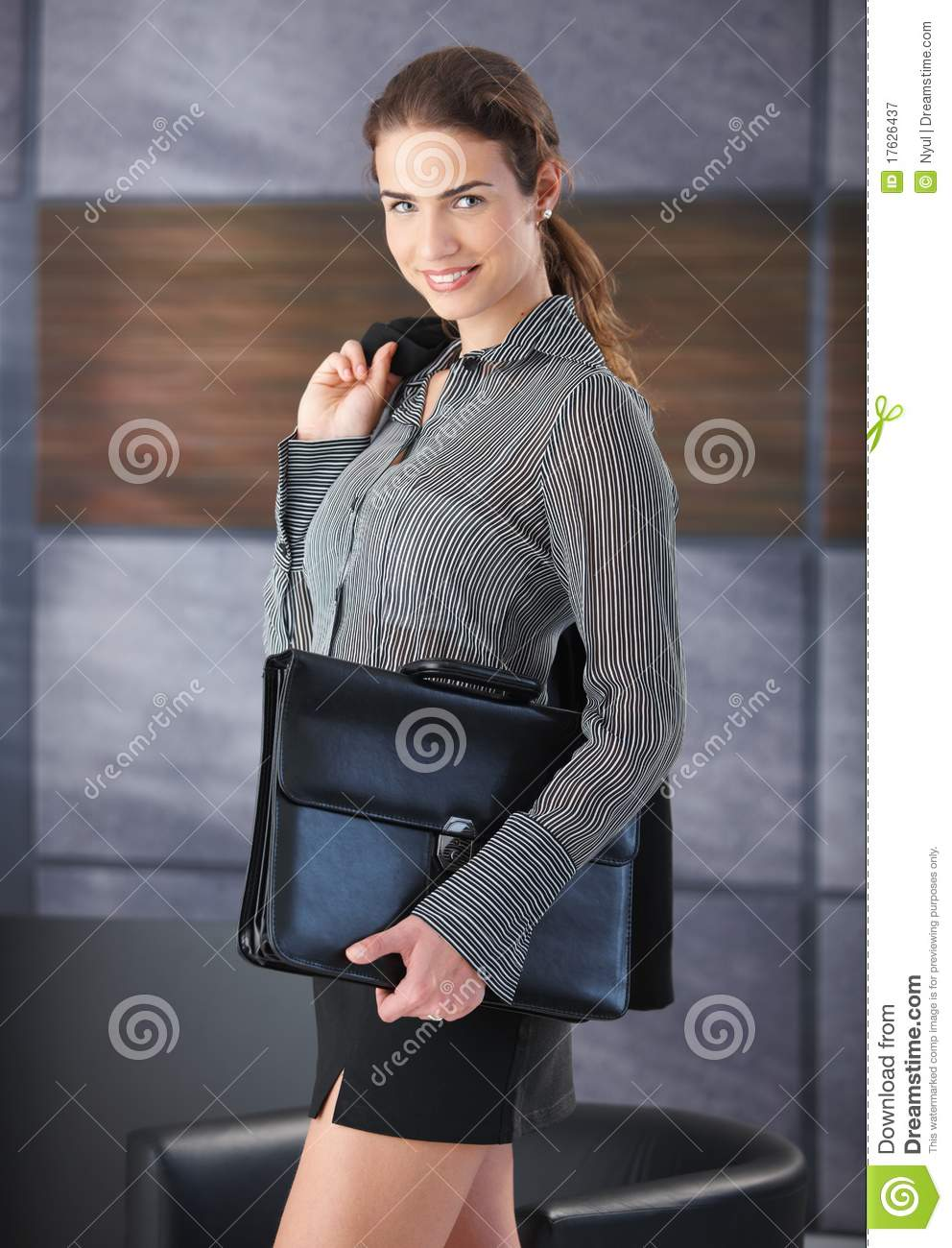 happy female going to job interview royalty stock photography happy female going to job interview
