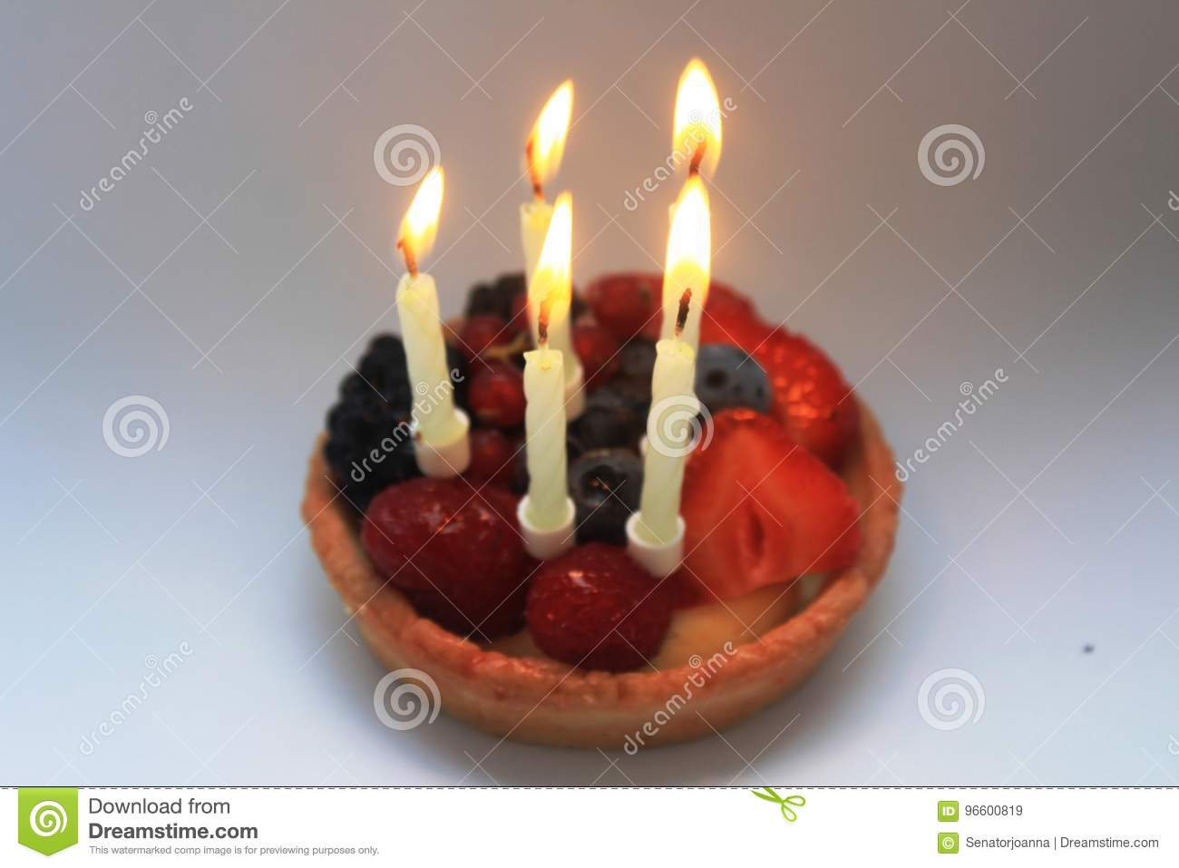 Happy Fifth Birthday Cake Stock Image Image Of Toddler 96600819