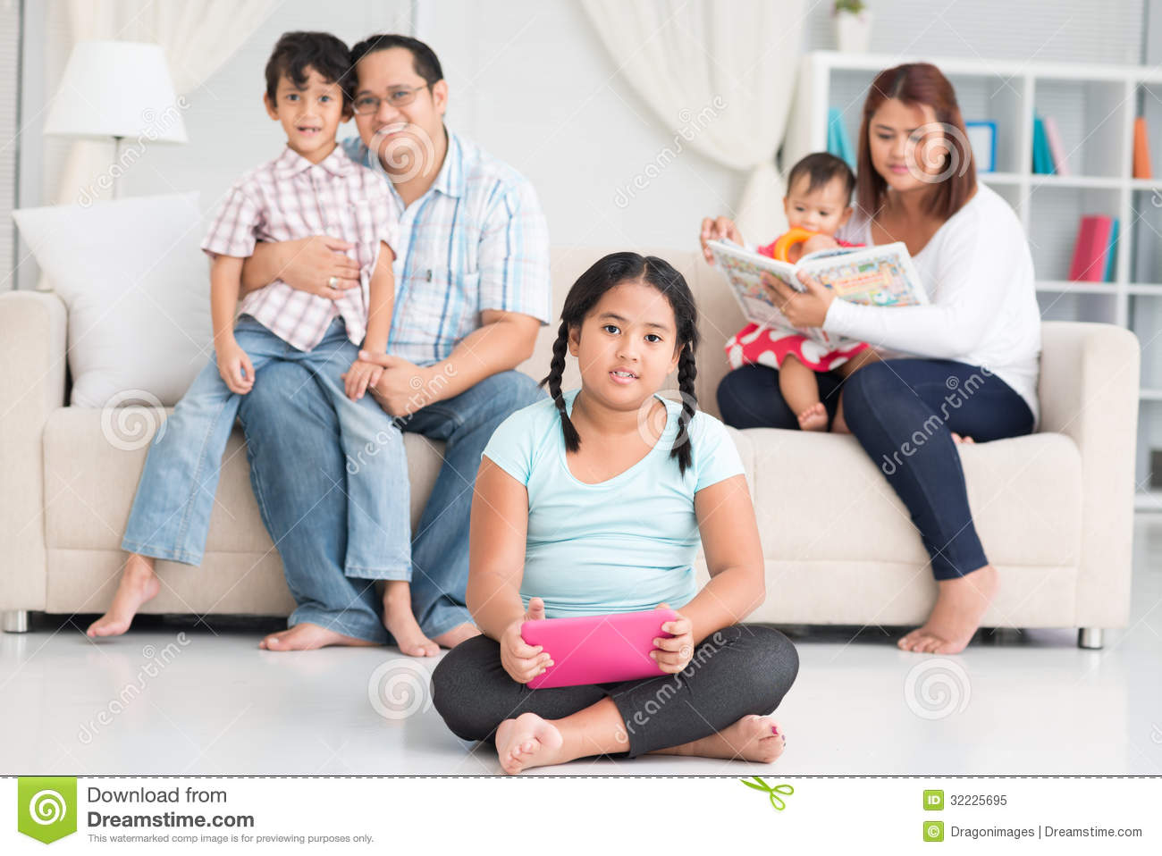 Happy Filipino family stock image. Image of lotus, adult - 32225695 for Happy Filipino Family At Home  193tgx