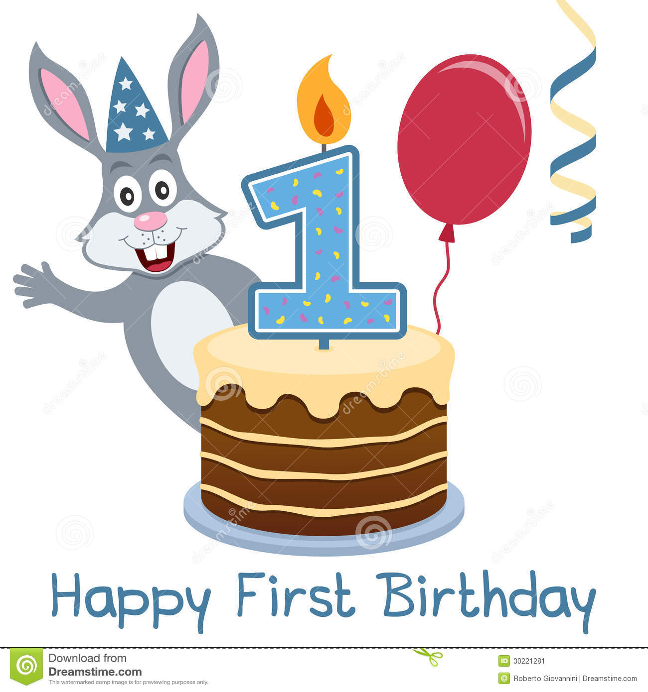 First birthday bunny rabbit stock vector illustration of first birthday bunny rabbit m4hsunfo