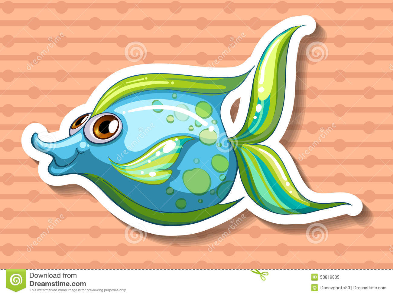 Happy fish stock vector image 53819805 for Happy fish swimming