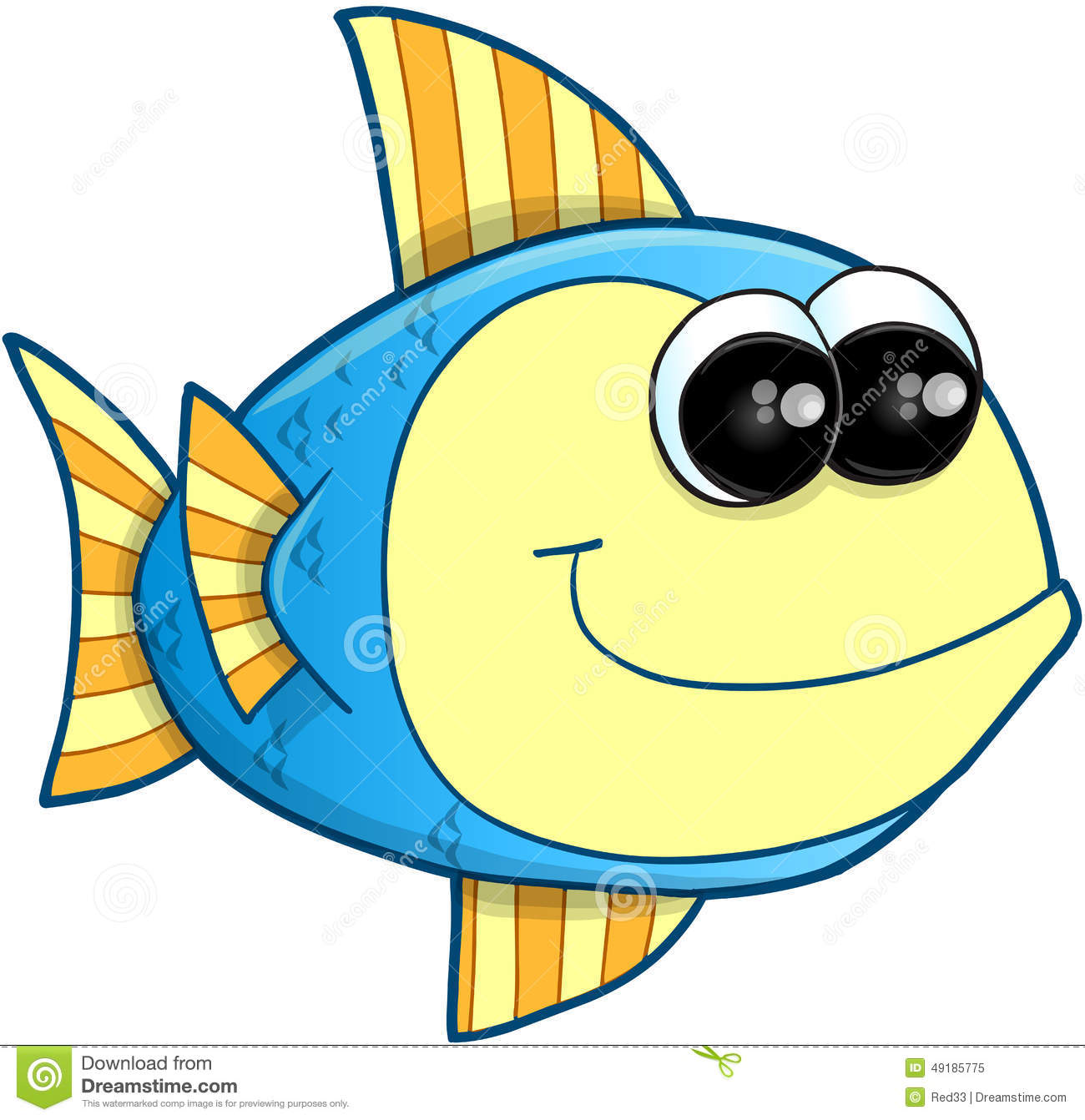 Happy fish vector stock vector image of marine swimming for Happy fish swimming