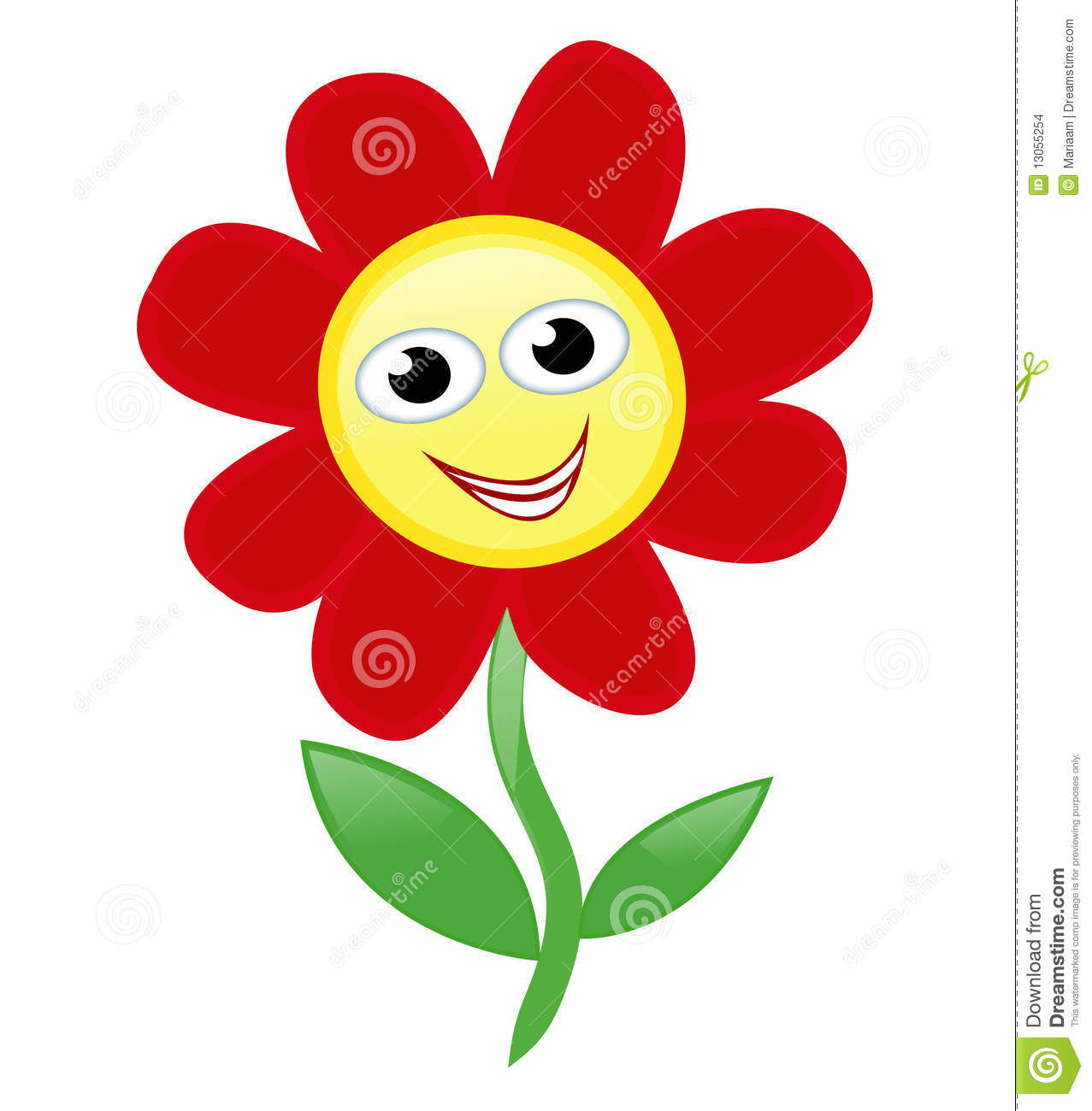 Happy flower stock vector Image of cheerful drawn flower