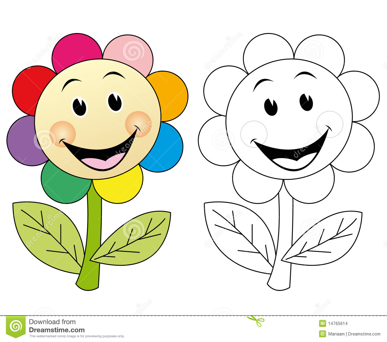 Happy Flower Stock Images Image 14765614