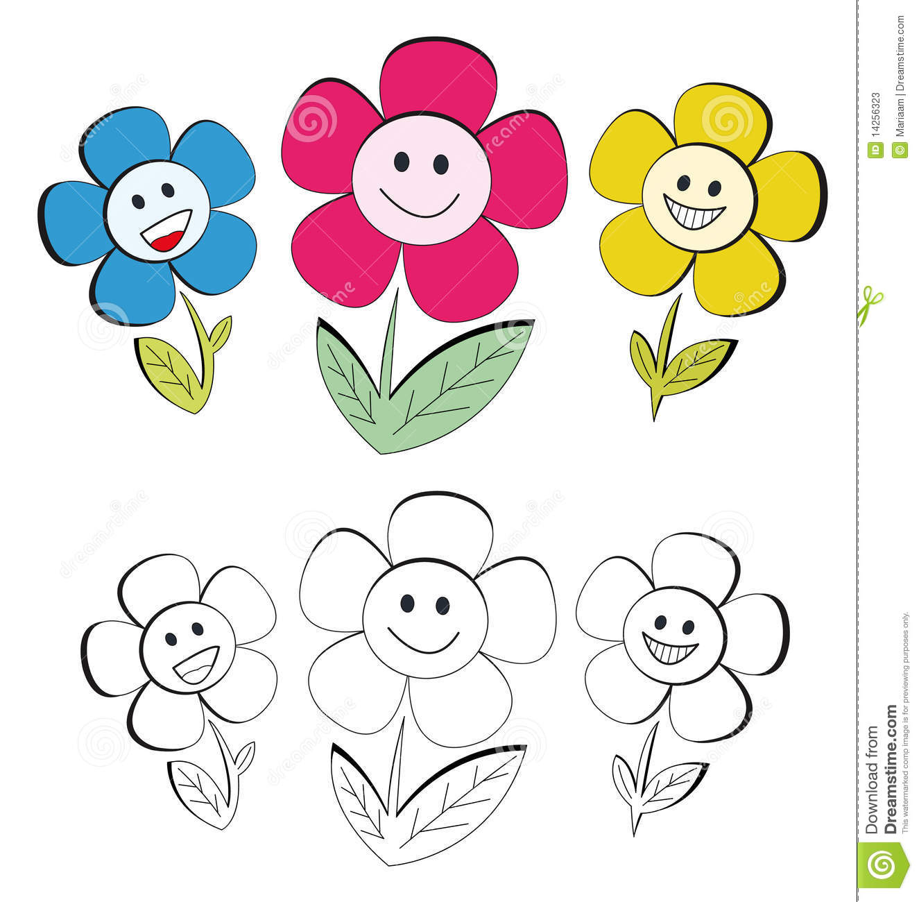 Happy Flowers Stock Photos Image 14256323