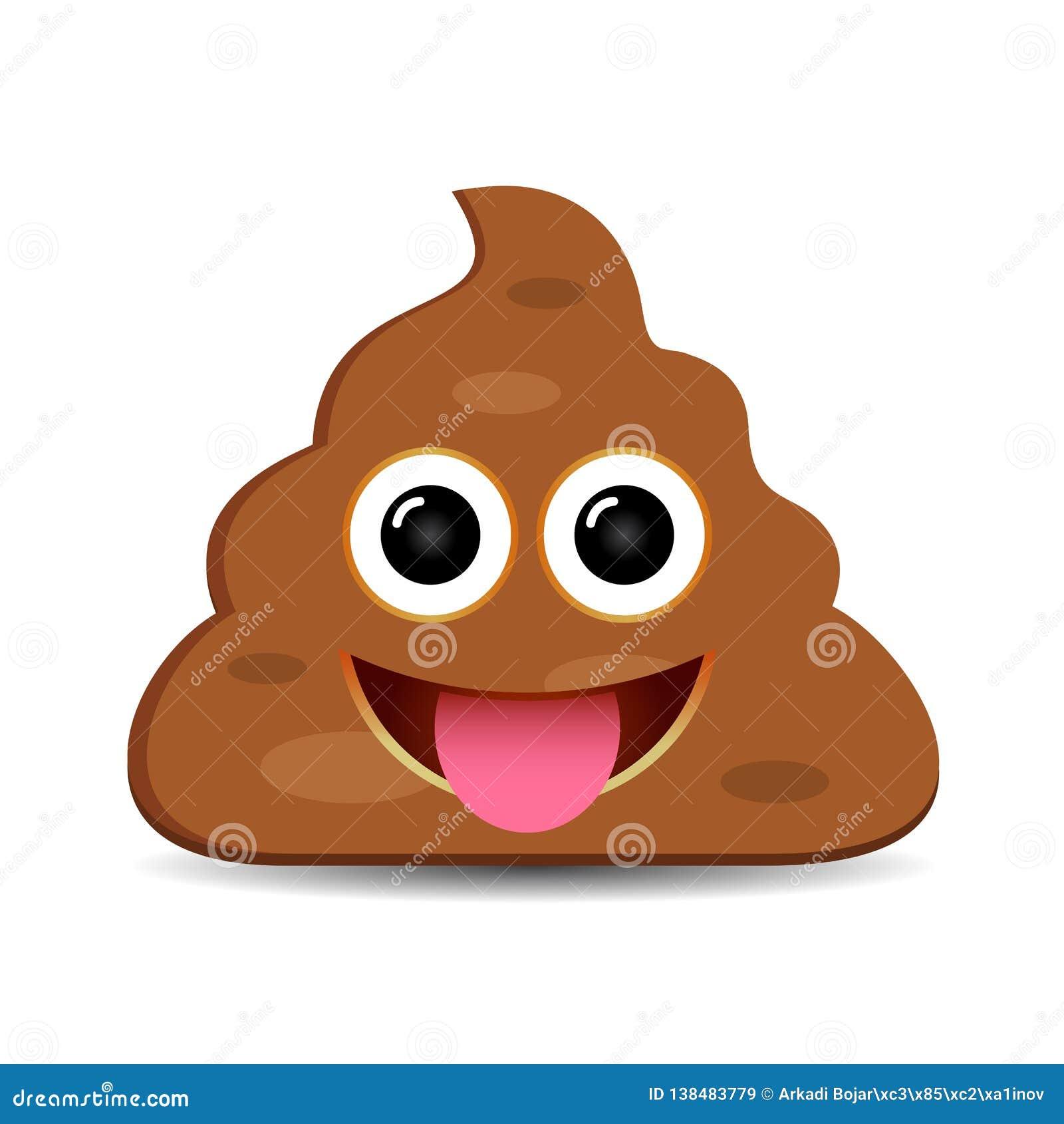 Happy foolish poo emoji
