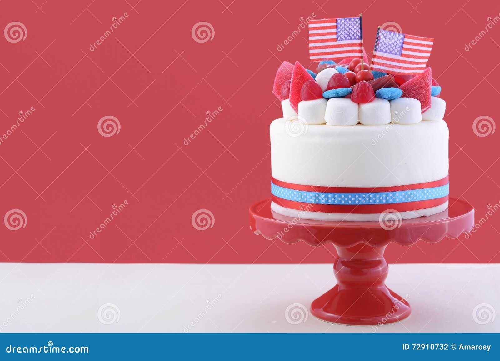 Phenomenal Happy Fourth Of July Celebration Cake Stock Photo Image Of Funny Birthday Cards Online Inifofree Goldxyz