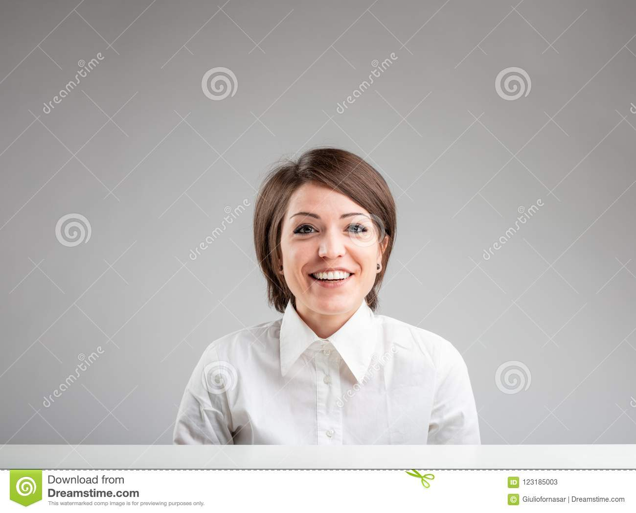 Happy friendly woman with a lovely smile