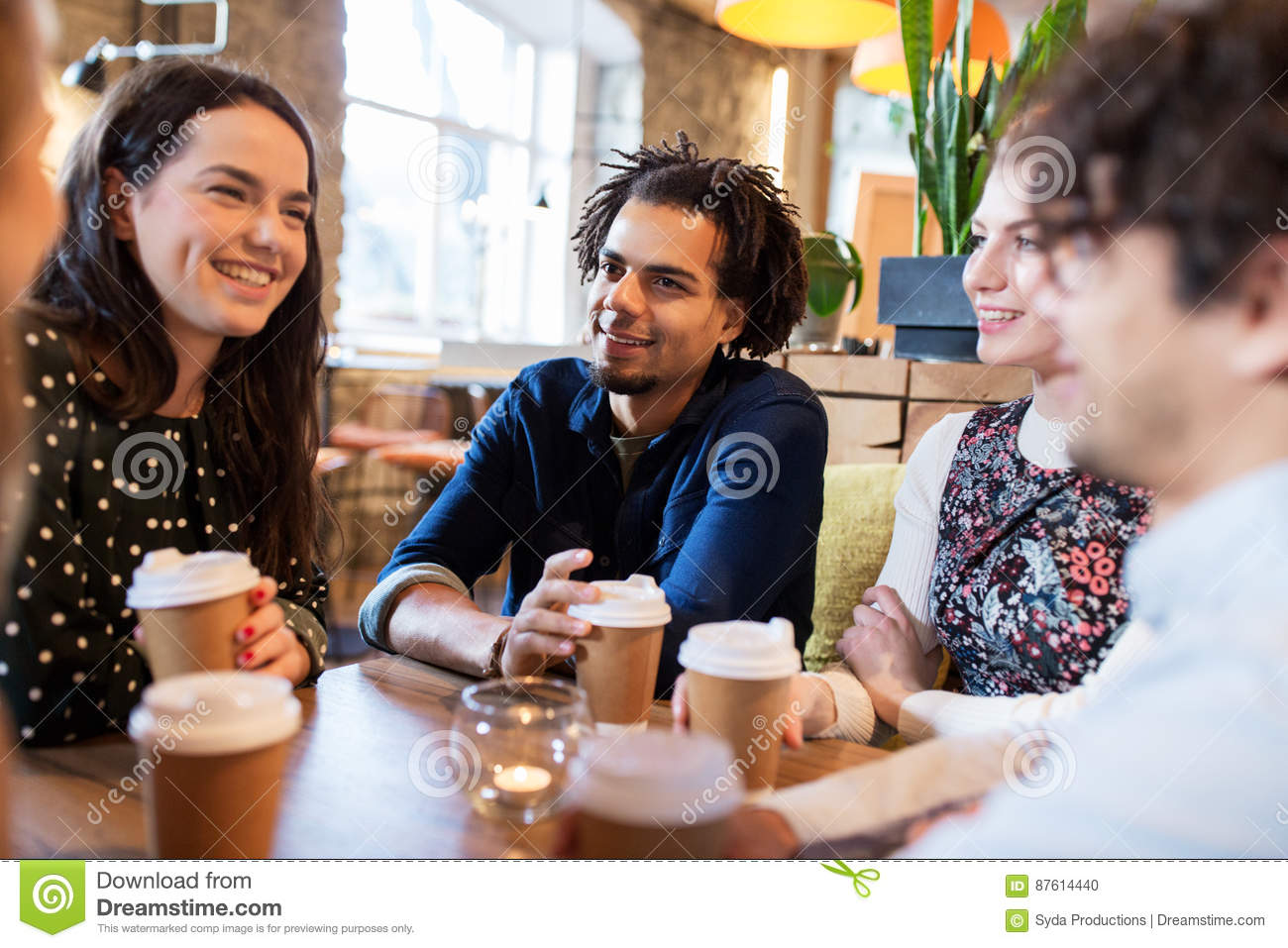 Friends Drinking Coffee