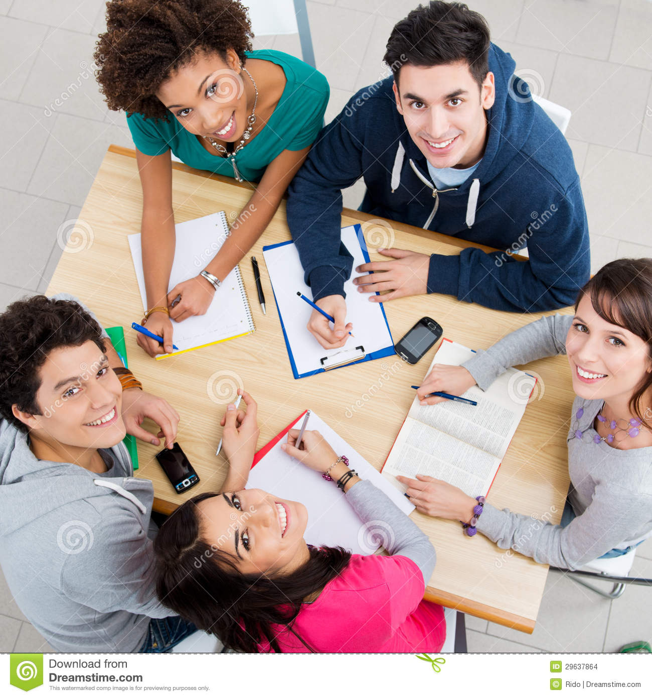 Happy Friends Studying Together Stock Images - Image: 29637864 Happy High School Student Clipart