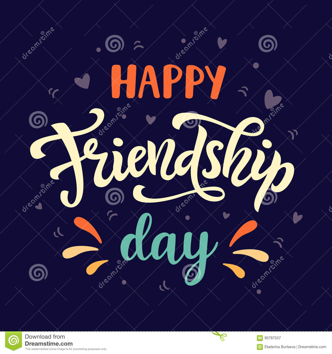 Happy Friendship Day Poster Stock Vector