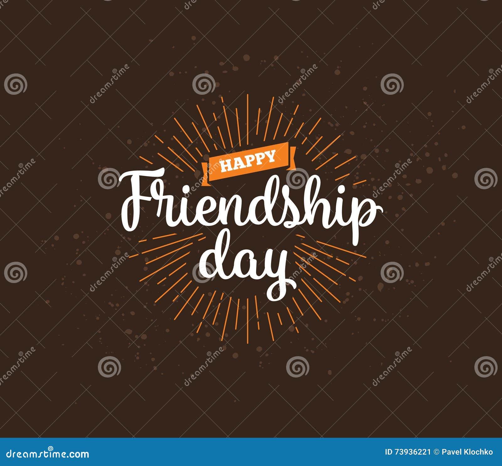 Happy Friendship Day Vector Typographic Design Stock
