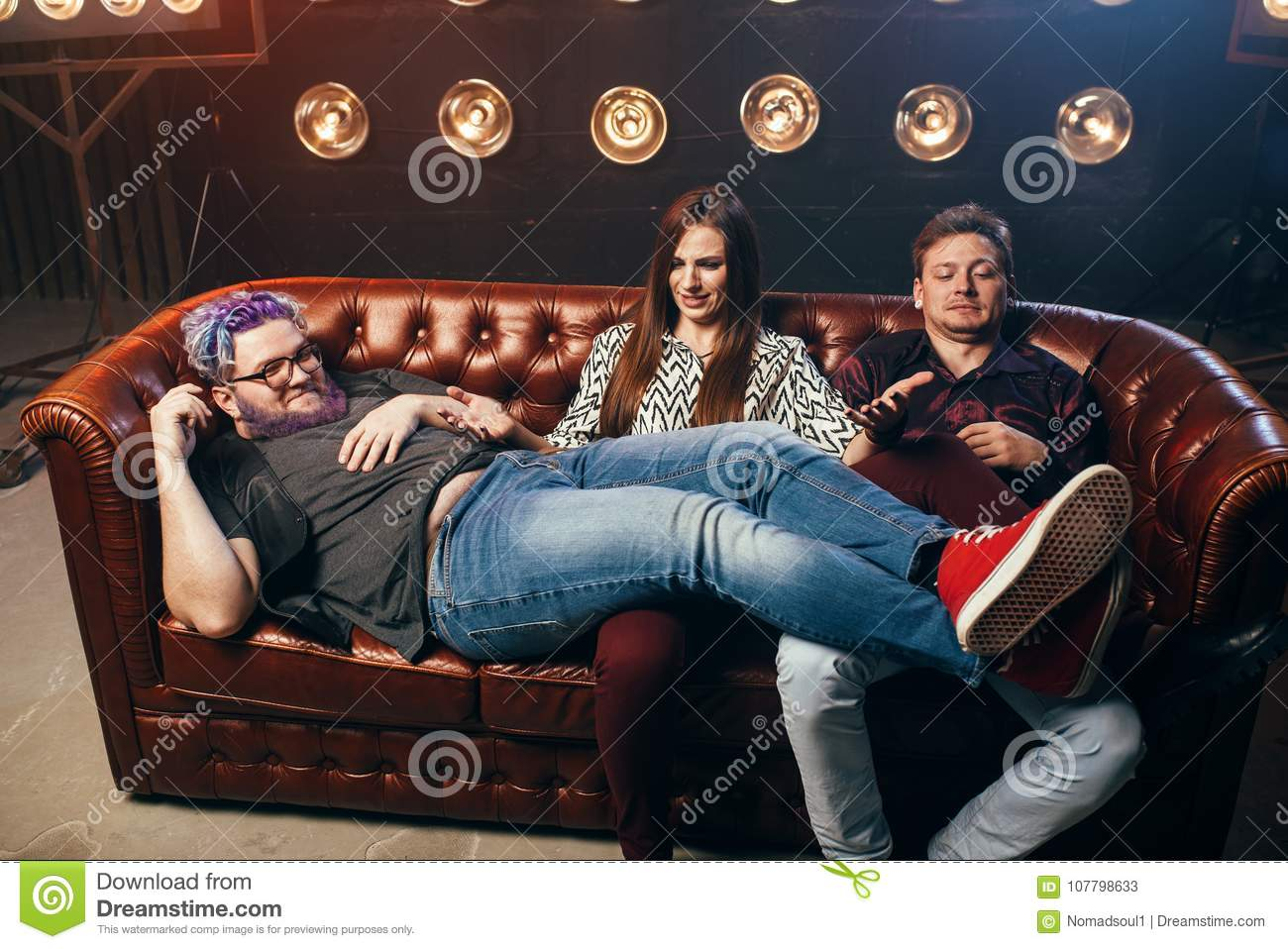 3some in sofa