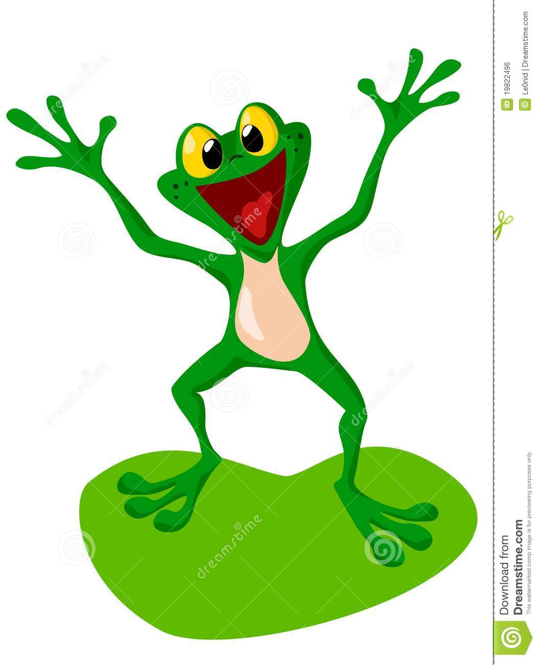 Happy Frog Stock Vector Illustration Of Environment