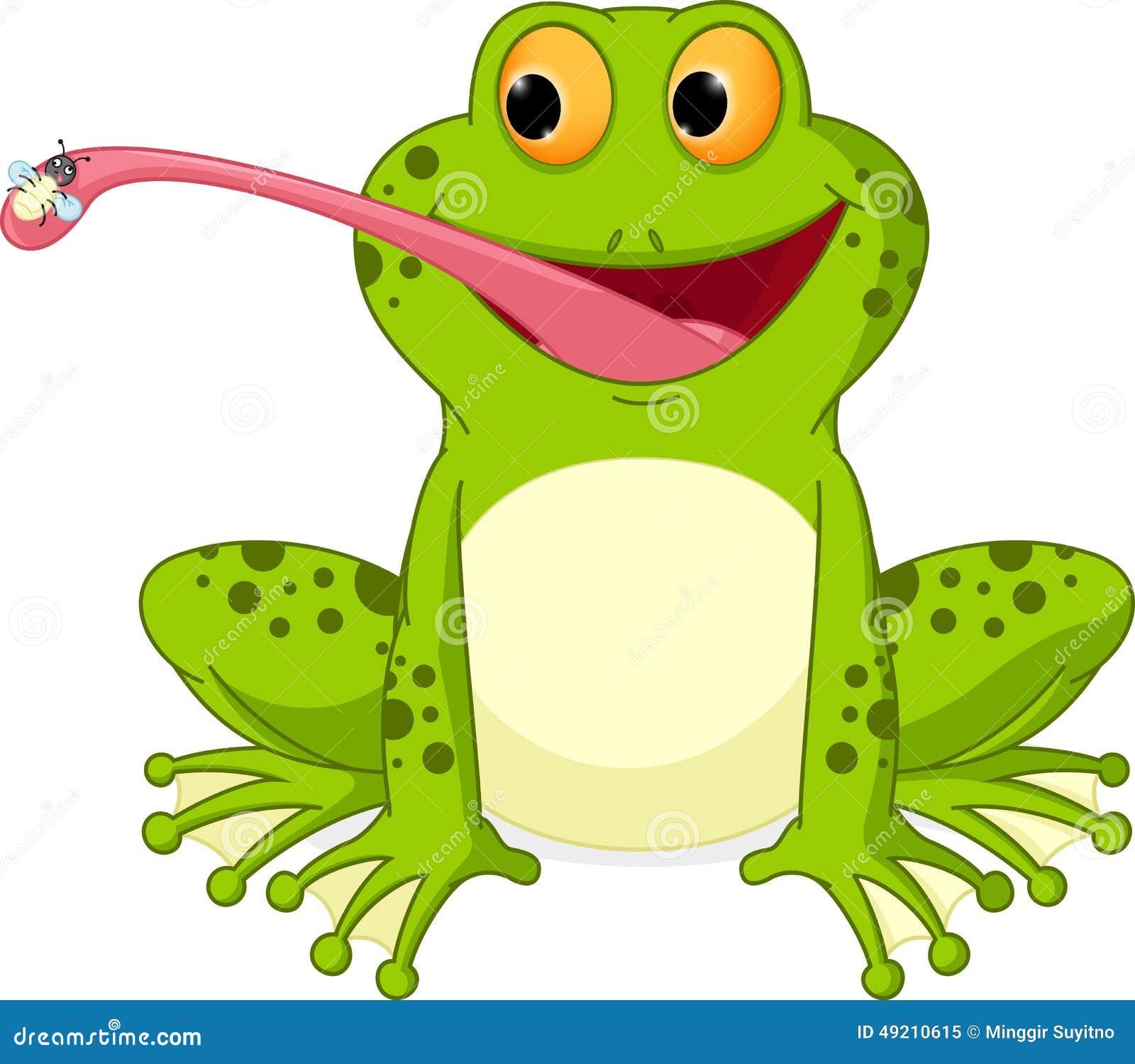 happy frog cartoon stock vector image 49211441